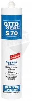 OttoSeal S70, dass Premium-Naturstein-Silicon, 310ml Farbe: C04 SCHWARZ