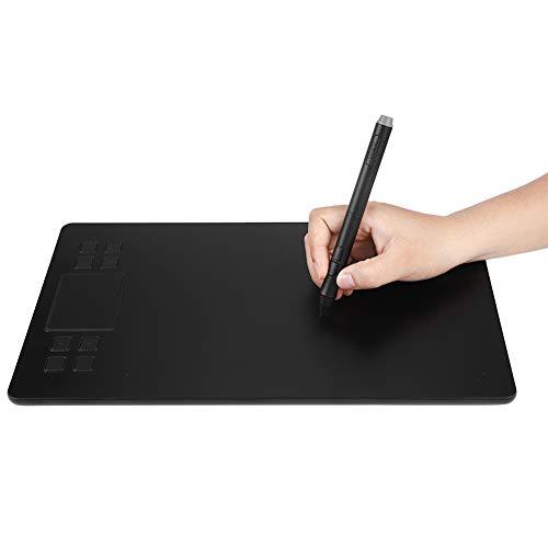 Grafiktabletts, 10 x 6 Zoll Drawing Tablet Ein-Finger- und Zweifinger-Berührung Zeichentabletts, 5080LPI, mit Touch Pen, Stiftspitzen Zubehör, für digitales Zeichnungsdesign Bildbearbeitung