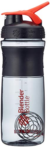 BlenderBottle Sportmixer Tritan Protein + Fitness Shaker mit BlenderBall ,Rot/Schwarz , 28oz / 820ml