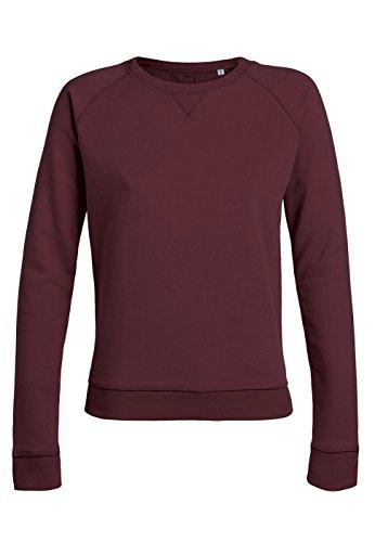 Royal Shirt sweat basique à col rond avec manches raglan pour femmes Burgundy