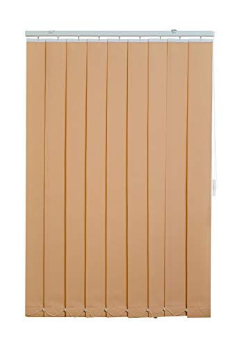 Sunlines HW5201 Vertikaler Lamellenvorhang Fixmaß, Stoff, creme, 150 x 250 cm