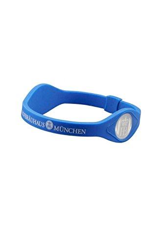 Chaps Merchandising Hofbräu Silikon-Armband Power, HB Logo, Blau, Energieband, Sport, Wellness, Trachten Accessoires, Hologramm (Power Xl Armband Balance)