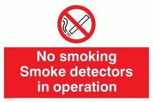 Viking Schilder ps7-a4l-pv No Smoking Rauchmelder in Operation Zeichen, Aufkleber, nachleuchtend,...