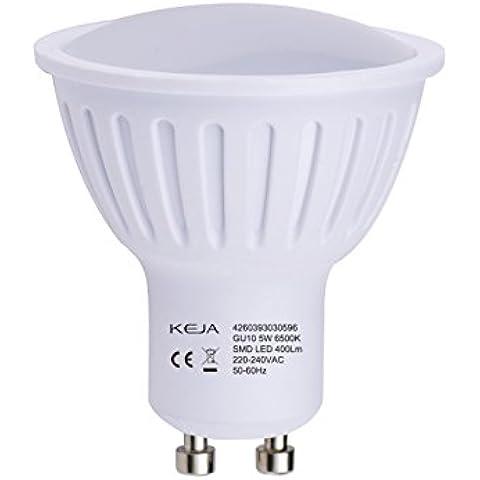 LED FACTORY 400lumen 5W MR16Lampadina LED GU10, ideale per sostituire lampadine alogene da 50W, bianco freddo, 6500K, 100° fascio LED lampadina lampadina