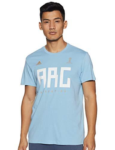 adidas Argentinien MNS, Herren T-Shirt L Clear Blue