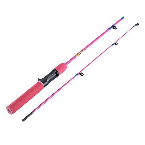 Mouchao Outdoor Farbe Angelrute 1,2 M Pistolengriff EIS Angelrute Winter Angelrute Rosa