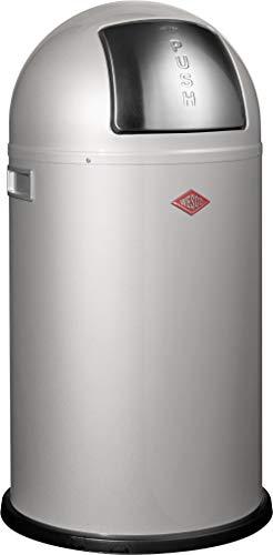 Wesco 175 831 Pushboy Abfallsammler 50 Liter silber (Silber Mülleimer)