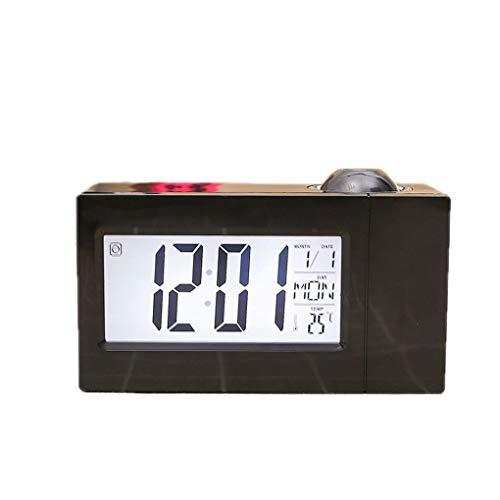 Meisijia Business-Temperatur-Digital-Snooze-Funktion Uhr LCD-Projektions-Sound Control Elektronischer Wecker