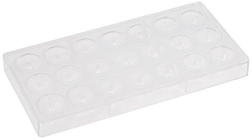Moule en Silicone Moule à Chocolat en Polycarbonate Sphere Enveloppe, Transparent, 13 g, 21 pièces