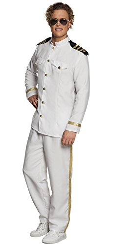 erdbeerclown - Herren Piloten Kostüm Overall Piloten Anzug Jacket, M/L, ()
