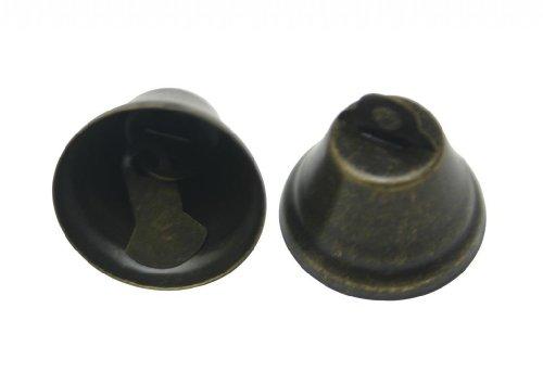 Generic metallo 1 X 1 cm, a forma di corno e campanello a colletto, in ottone antico con accessori per gioielli, confezione da 40