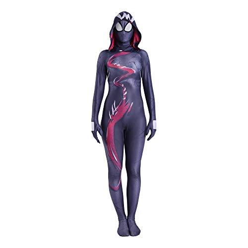 Venom Kostüm Damen - POIUYT Venom Weiblichen Spinnenmann Ge Wen Strumpfhosen Kind Dame Spiderman Film Spiel Anime Cosplay Kostüm Ball Strumpfhosen Lycra,Adult-L