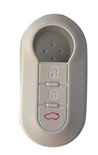 Tech11 fiat - protezione in silicone per telecomando chiave fiat - fiat 500 - panda (dal 2012) - bravo - punto - 500l - lancia ypsilon (dal 2011 in poi) - delta - doblo' - musa (silver)