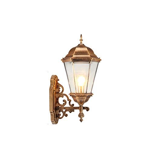 LRW Europäische Wandleuchte Außen Balkon Tür Hof Lampe Im Freien Wasserdichte Villa Wandbehang Wand Antike Kupfer Farbe -