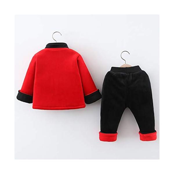 Tefamore Ropa Bebe Conjuntos Niños Deportivos Ropa Abrigo Pequeño Bebé Niños Año Nuevo Chino Traje Tang Estilo Chino… 3