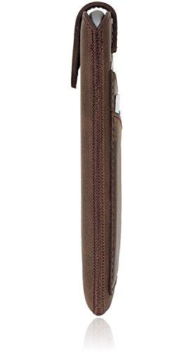 Bouletta Multi-Case Apple iPhone 6 Plus / 6S Plus Leder Handyhülle | Handytasche | Schutzhülle | Tasche | Ledertasche | Lederhülle | Hülle | Sleeve | Cover | Etui mit Kartenfach (Dunkel Braun) Dunkel Braun