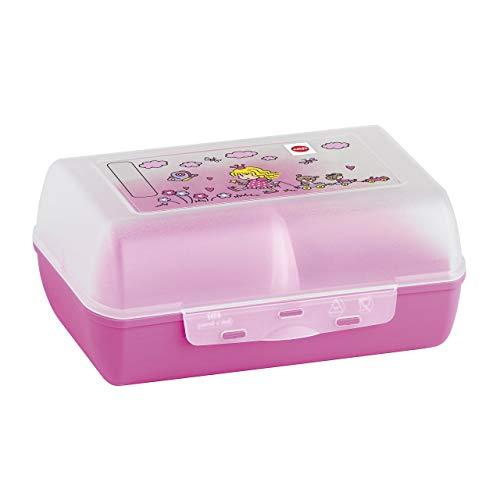 Emsa 513794 Variabolo Clipbox con Divisorio Rimovibile, Decorazione Princess, Rosa