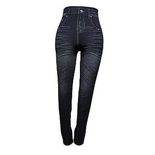Cflagrant Women's Leggings Blue Denim Blue S/M - Black - S/M