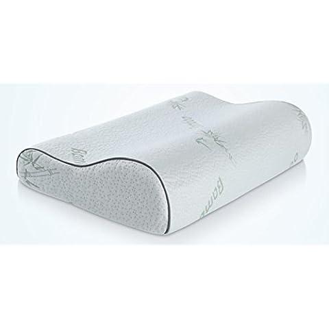 DDJ bambù ortopedico Contour Memory Foam Pillow - Tratta collo