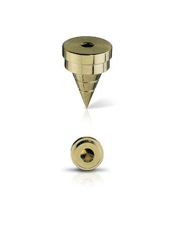 Oehlbach Spike S 2000 | Hochwertiges Spike-Set aus Vollmetal mit Unterlegscheibe | Perfekt für kleine & große Lautsprecher | 4 Stück - Chrom Silber