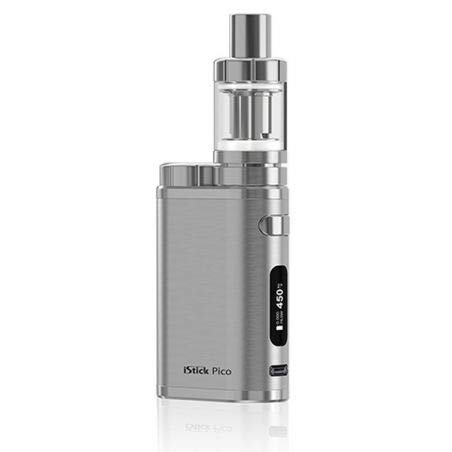 Eleaf - Full Kit iStick Pico potenza 75w Box elettronico per sigaretta elettronica senza nicotina con atomizzatore Eleaf Melo 3 Mini (Brushed Silver)