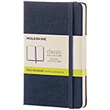 Moleskine 942163 - Cuaderno tapa dura liso, 9 x 14 cm, color azul