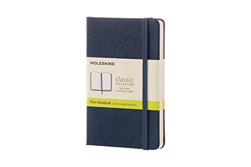 Moleskine Notebook Classic Pagina Bianca, Taccuino Copertina Rigida e Chiusura ad Elastico, Colore Blu Zaffiro, Dimensione Pocket 9 x 14 cm, 192 Pagine