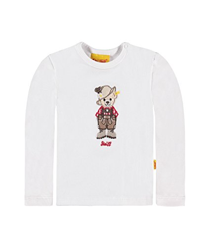 Steiff Collection Jungen Langarmshirts T-Shirt 1/1 Arm, Gr. 80, Weiß (bright white 1000)