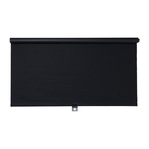 IKEA TUPPLUR Verdunklungsrollo in schwarz; (100x195cm)
