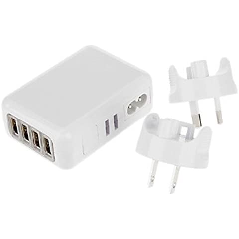 Piteng? Cargador de viaje USB con 2 puertos USB para Samsung Mobile Phone, Iphone y otros (EEUU, UK, EU Plug), diseño de AS