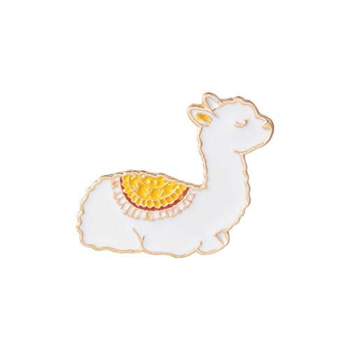 Fliyeong Premium Cartoon Llama Emaille Nette Alpaka Styling Abzeichen Broschen Pin für Frauen Männer