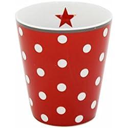 Becher Tasse rote Pünktchen, Krasilnikoff