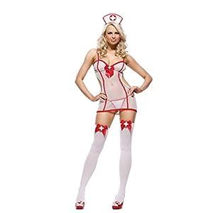 Addfect Kostüme Damen Frauen erotik Sexy Krankenschwester Transparent SM Bondage Rollen Spielen Cosplay Frauen hot Ouvert Lingerie-Ohne Strümpfe