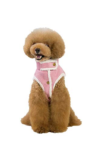 Latintulip Pet Clothes Puppy Pet Dog Jacket Pet Dog Costume Apparel Clothing Lamb Cashmere Dog Coat Cotton Clothes (XX-Large, Pink) -