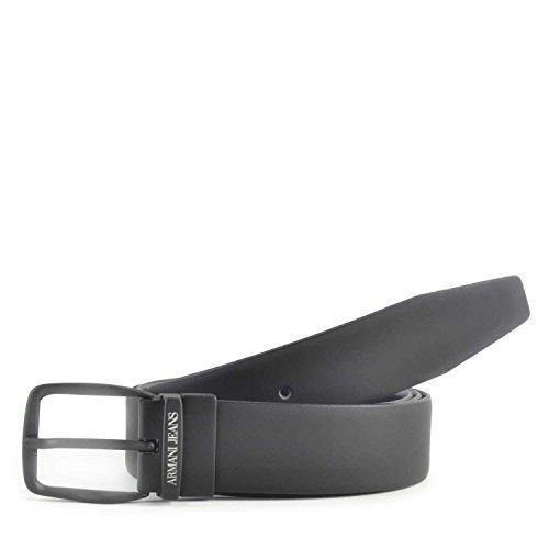 Cintura uomo in pelle Armani Jeans colore Nero