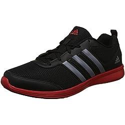 Adidas Men's Black, Visgre and Scarle Running Shoes - 9 UK/India (43.33 EU)