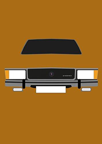 Ford Granada Mk1–Retro Motor Company Grußkarte (Granada Coupe)
