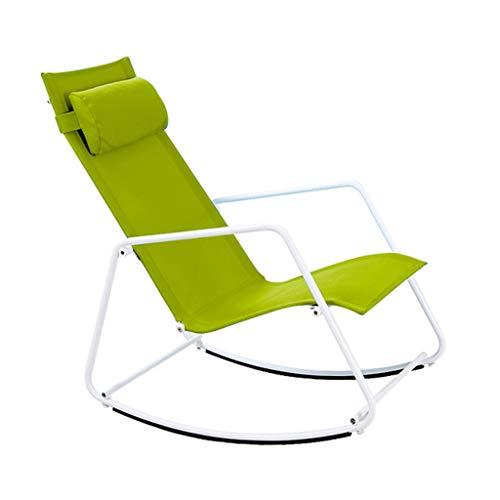 Rocking chair Fauteuil à Bascule Health UK Outdoor Loisirs en Alliage de Fer imperméable détachable