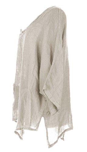 Desconocido - Camicia - Basic -  donna Beige