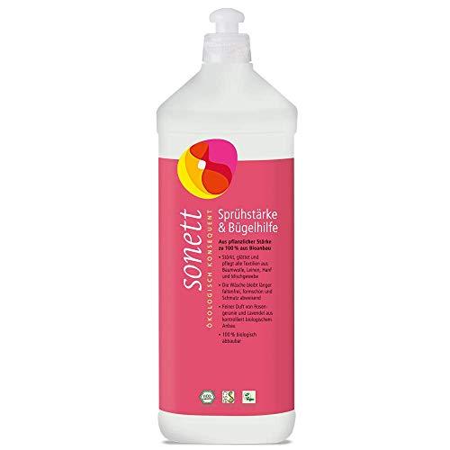 Sonett Sprühstärke und Bügelhilfe mit feinem Duft von Rosengeranie und Lavendel, 100% biologisch abbaubar, 1 l