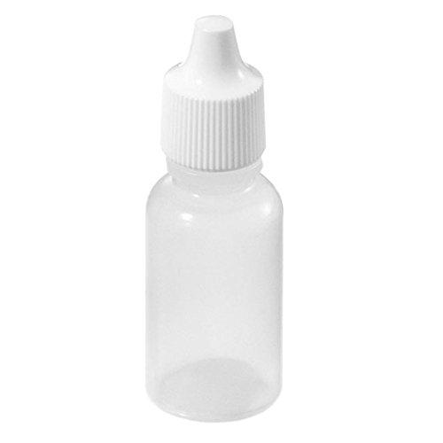 SODIAL (R) 50pcs Leere Plastik Squeezable Tropfflaschen (5 ml)