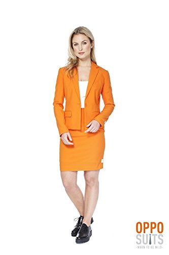 Kostüm Reservoir Dogs (Foxy Miss Orange Damen Kostüm Opposuit Slimline 2-teilig)
