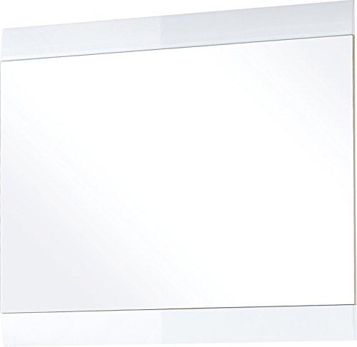 Germania 3517-84 Spiegel mit Hochglanz-Applikationen GW-Neapel in Weiß, 87 x 76 x 3 cm (BxHxT)