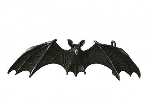 Dark Dreams Gothic Mittelalter LARP Buckle Schnalle für Gürtel Fledermaus schwarz
