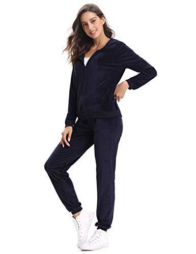 Aibrou tuta sportiva donna completi felpa 2 pezzi felpa con cappuccio + pantaloni jogging invernale autunno per passeggiata casual pigiama tute da ginnastica