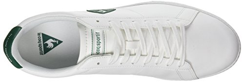 Le Coq Sportif Courtset S Lea, Baskets Basses Mixte Adulte Blanc (Optical White/Evergr)