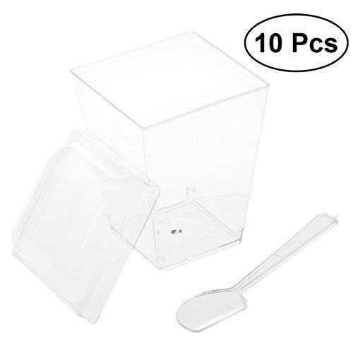 ml Mini Dessert-Tassen-Kleine Aperitif-Schalen und Löffel, Lieferungen von Catering Plastikbecher Parfait Tumblers Shooters (my-5875) ()