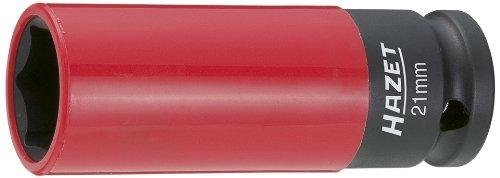 Preisvergleich Produktbild HAZET Steckschlüsseleinsatz (1/2 Zoll (12,5 mm) Vierkantantrieb, mit Kunststoffhülse zum Schutz von Felgen, Schlüsselweite: 21 mm) 903SLG-21