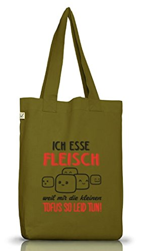 Shirtstreet24, Kleine Tofus, Jutebeutel Stoff Tasche Earth Positive (ONE SIZE) Leaf Green