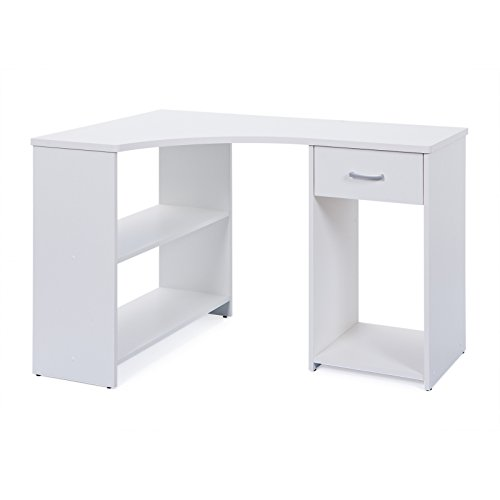 Links - office a11 - scrivania angolare. dim: 118x79x75 h cm. col: bianco. mat: nobilitato.